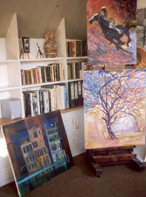 The Studio with latest work
